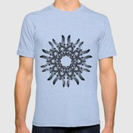 Donkey Kaleidoscope  Mens Fitted Tee Athletic Blue SMALL