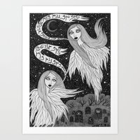 Two Ghosts Art Print