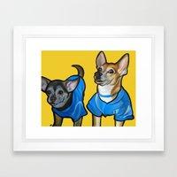 Winston And Chloe The Ch… Framed Art Print