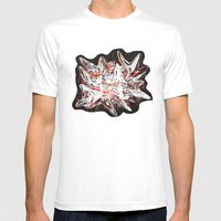 Mind bending Splat Mens Fitted Tee White SMALL
