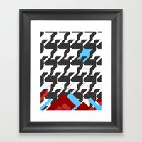 HoundsTeeth Framed Art Print
