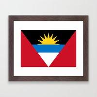 Flag Of Antigua And Barb… Framed Art Print