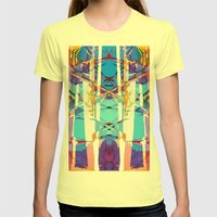 Colored Window Womens Fitted Tee Lemon SMALL