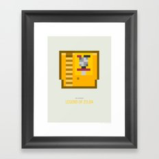 Legend of Zelda Cartridge Framed Art Print