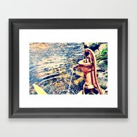 Waterfountain Framed Art Print