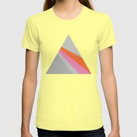 Sun On The Wall Womens Fitted Tee Lemon SMALL