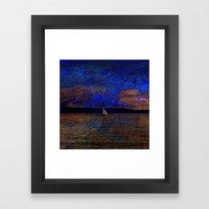 fantasy landscape x Framed Art Print