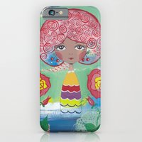 iPhone & iPod Case featuring Curly girl with roses by ArtByBeata