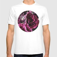 Pink Flowers Mens Fitted Tee White SMALL