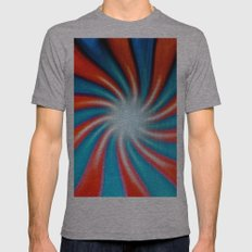 Crazy Colors Mens Fitted Tee Athletic Grey SMALL