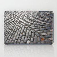 Leaves on cobblestones iPad Case