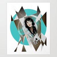 BAT FOR LASHES & The Mask Art Print