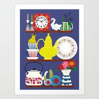 Scandinavian Shelf Colle… Art Print