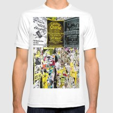 Cosmic Charlie White SMALL Mens Fitted Tee