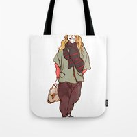 Girl and a Tuque Tote Bag