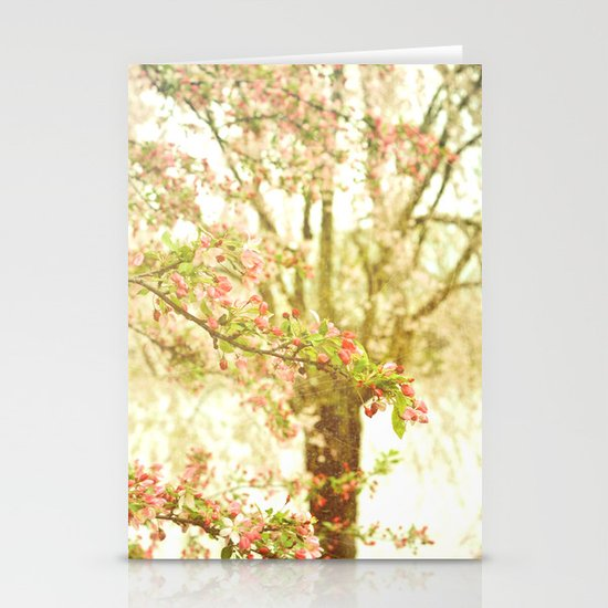 She Dreamed of Flowers in Her Hair Stationery Card