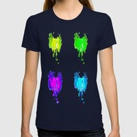 Quattro - Light bulb gorgeousness Womens Fitted Tee Navy SMALL
