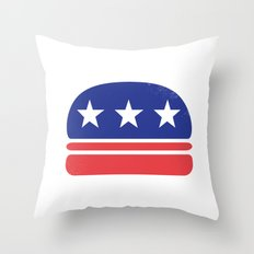 I Vote for Burger! Throw Pillow