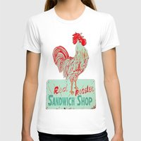 Red rooster Womens Fitted Tee White SMALL