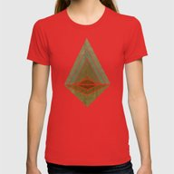 Mountain Womens Fitted Tee Red MEDIUM