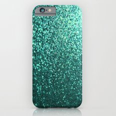 Teal Aqua Glitter Sparkle iPhone 6 Slim Case