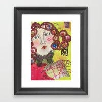 Curly Sue Framed Art Print