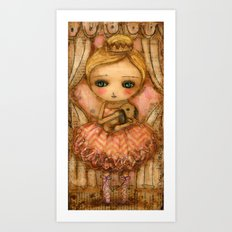 The Bunny And The Ballerina Art Print
