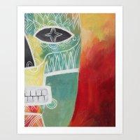 Calavera 2 Art Print
