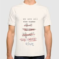 We Are All The Same/diff… Mens Fitted Tee Natural SMALL