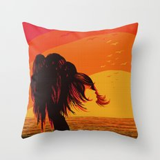 The Face in the Willow Throw Pillow