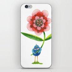 Red Wonder Flower iPhone & iPod Skin
