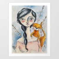 Otter Love Art Print
