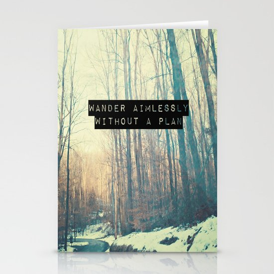 Wander Aimlessly  Stationery Card