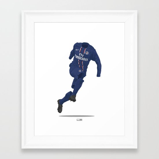 Paris St. Germain (PSG) 2012/13 Framed Art Print