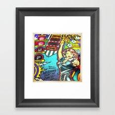 Warning! Play in control. Framed Art Print
