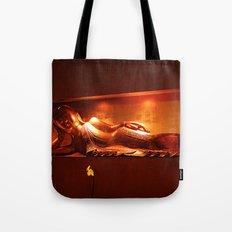 golden buddha, reclining Tote Bag