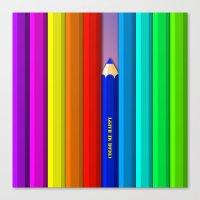 Color Me Happy :)  Canvas Print