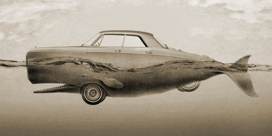 the Buick of the sea - sepia Art Print