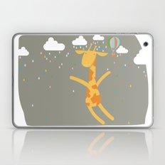 giraffe in the rain Laptop & iPad Skin