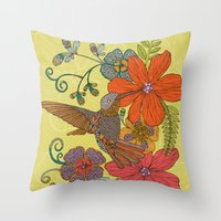 Humming Heaven Throw Pillow