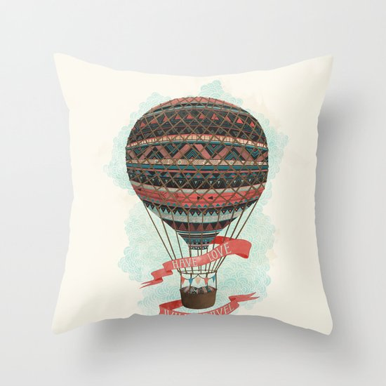 have love, will travel Throw Pillow