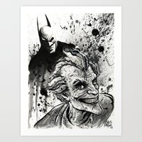 Joker: Arkham Smiles Art Print