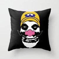 Misfit Wario Throw Pillow