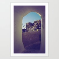 Santorini Walkway IV Art Print