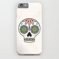 sugar skull iPhone & iPod Cases featuring Sugar Skull by Liz Urso