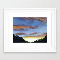 Sunset on the Road 2 Framed Art Print