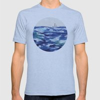 Lost at Sea Mens Fitted Tee Athletic Blue SMALL