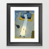 Crime Fiction Framed Art Print