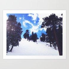 Snow Landscape  Art Print