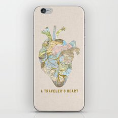 A Traveler's Heart iPhone & iPod Skin